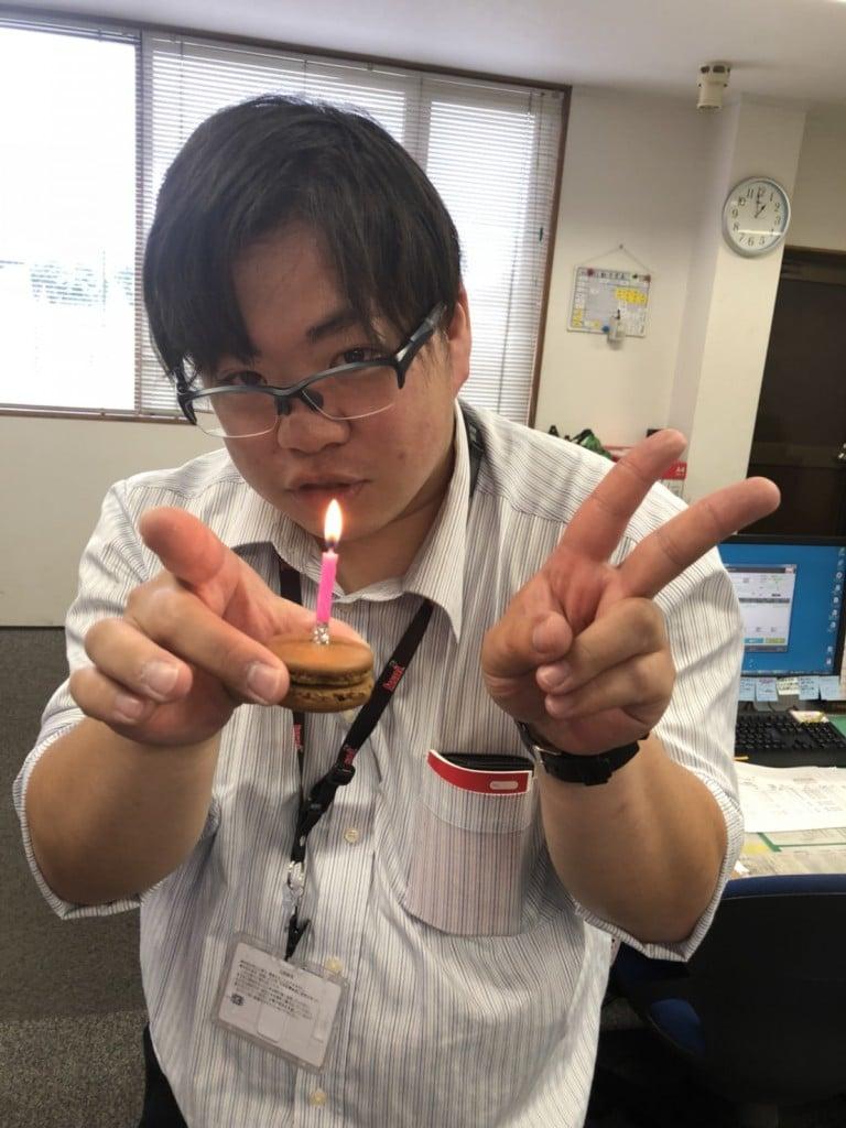 営業1課 大川さん happy birthday
