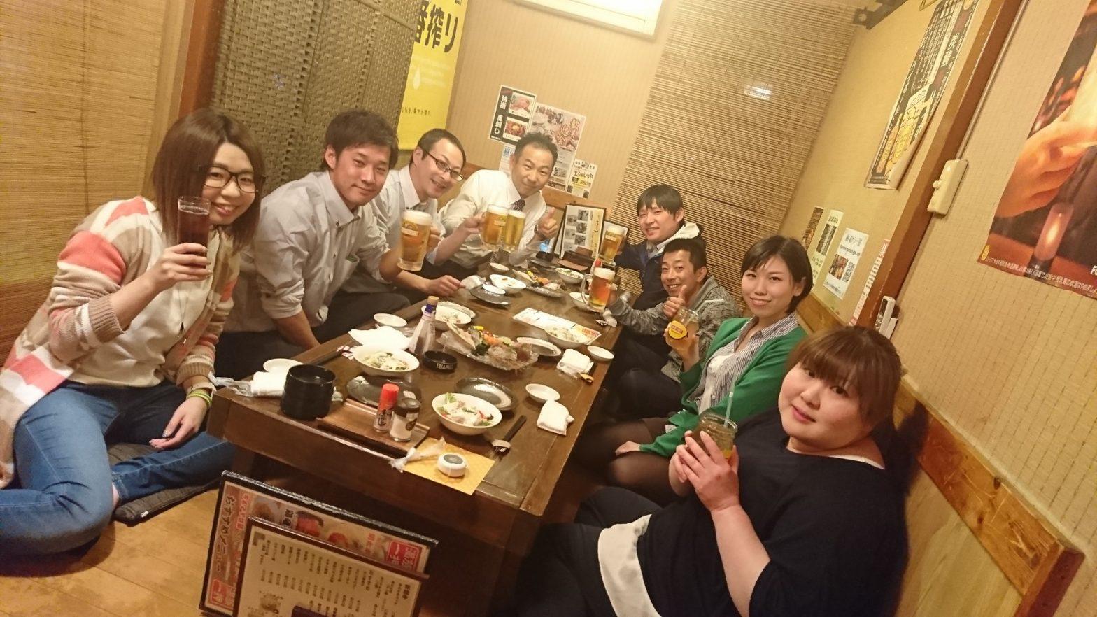 営業2課達成祝勝会 !(^^)!